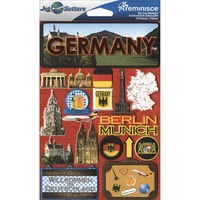 Reminisce Jet Setters Dimensional Stickers Germany