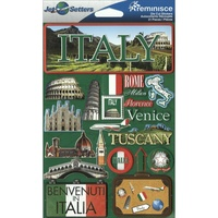 Reminisce Jet Setters Dimensional Stickers Italy