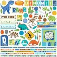 "PhotoPlay Paper Jurassic 12x12"" Element Stickers"