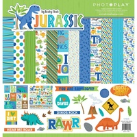 "PhotoPlay Paper Jurassic 12x12"" Collection Pack"