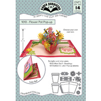 Karen Burniston Die Flower Pot Pop Up Card