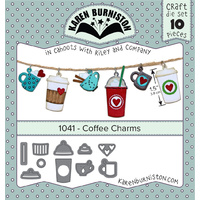 Karen Burniston Die Coffee Charms