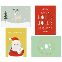 Kaisercraft Kaiserstyle Christmas Card & Envelope Pack Holly Jolly