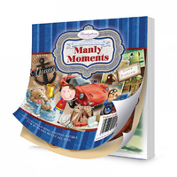 "Hunkydory 5x5"" Paper Pad The Square Little Book of Manly Moments 150pg"