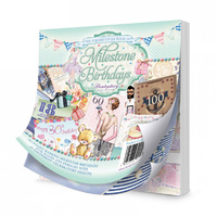 "Hunkydory 5x5"" Paper Pad The Square Little Book of Milestone Birthdays 150pg"