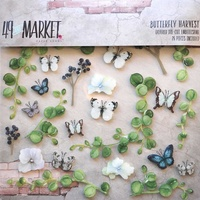 49 and Market Layered Embellishments Butterfly Harvest 26pc