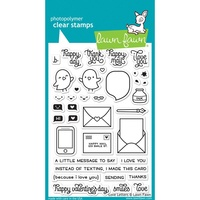 "Lawn Fawn Clear Stamp 4x6"" Love Letters"