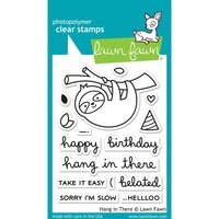 "Lawn Fawn Clear Stamp 3x4"" Hang in There"