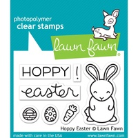 "Lawn Fawn Clear Stamp 3x2"" Hoppy Easter"
