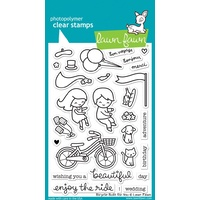 "Lawn Fawn Clear Stamps 4x6"" Bicycle Built for You"
