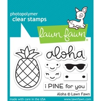 "Lawn Fawn Clear Stamp 3x2"" Aloha"