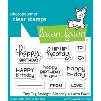 Lawn Fawn Clear Stamps Tiny Tags Sayings Birthday