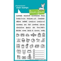 "Lawn Fawn Clear Stamp 4x6"" Plan on It Vacation"