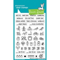 Lawn Fawn Clear Stamps Plan On It Fitness