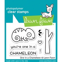 Lawn Fawn Clear Stamp One In A Chameleon