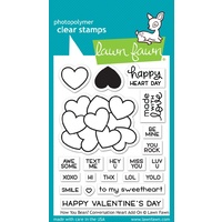 Lawn Fawn Clear Stamps How You Bean? Conversation Heart Add On