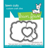 Lawn Fawn Lawn Cuts Die How You Bean? Conversation Heart Add On