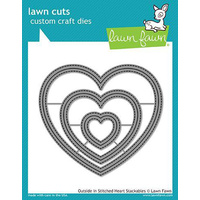 Lawn Fawn Lawn Cuts Die Outside In Stitched Hearts Stackables