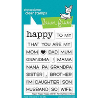 Lawn Fawn Clear Stamp Happy Happy Happy Add On Family
