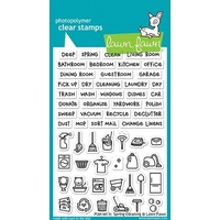 Lawn Fawn Clear Stamp Plan On It Spring Cleaning