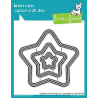 Lawn Fawn Lawn Cuts Die Outside In Stitched Star Stackables