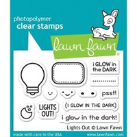 Lawn Fawn Clear Stamp Lights Out