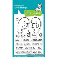 Lawn Fawn Clear Stamp Manatee-rific