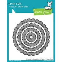 Lawn Fawn Lawn Cuts Die Stitched Scalloped Circle Frames
