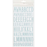 American Crafts Thickers Alpha Stickers Little You Starlight Puffy Turquoise by Crate Paper