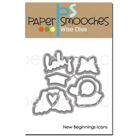 Paper Smooches Die New Beginnings Icons
