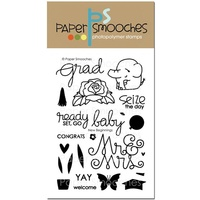 "Paper Smooches Clear Stamp 4x6"" New Beginnings"