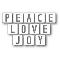 Memory Box Die Peace Love and Joy Tiles