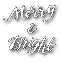 Memory Box Poppystamps Die Merry & Bright Brushed