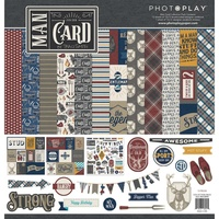"PhotoPlay Paper Man Card 12x12"" Collection Pack with Sticker Sheet"