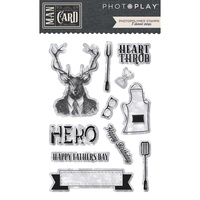 PhotoPlay Paper Man Card Photopolymer Stamp Set Element