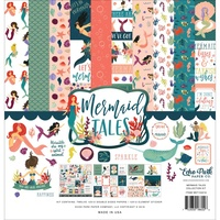 "Echo Park Mermaid Tales 12x12"" Collection Kit with Sticker Sheet"