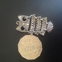 Metal - Owl 5 Hinged Pieces