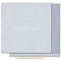 "Maja Design Denim & Friends Shades of Monochrome 12x12"" Cardstock Light Blue"