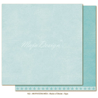 "Maja Design Denim & Friends Shades of Monochrome 12x12"" Cardstock Aqua"