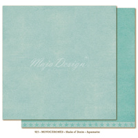 "Maja Design Denim & Friends Shades of Monochrome 12x12"" Cardstock Aquamarine"