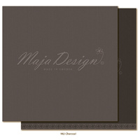 "Maja Design Celebration Shades of Monochrome 12x12"" Cardstock Charcoal"