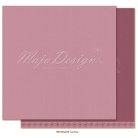 "Maja Design Celebration Shades of Monochrome 12x12"" Cardstock Muted Fuchsia"