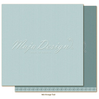 "Maja Design Celebration Shades of Monochrome 12x12"" Cardstock Vintage Teal"
