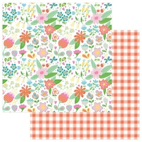 "PhotoPlay Paper Mad 4 Plaid 12x12"" Paper Flowers"