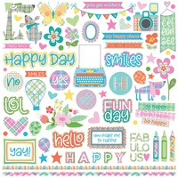 PhotoPlay Paper Mad 4 Plaid Stickers Elements