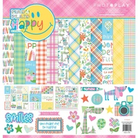"PhotoPlay Paper Mad 4 Plaid 12x12"" Collection Kit with Sticker Sheet"