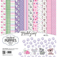 "Elizabeth Craft Designs 6x6"" Paper Pack Colour of Puppies Girl by Modascrap"