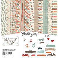 "Elizabeth Craft Designs 12x12"" Paper Pack Manly Man by Modascrap"
