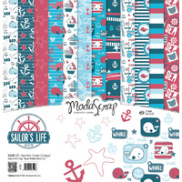 "Elizabeth Craft Designs 12x12"" Paper Pack Sailor's Life by Modascrap"