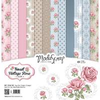 "Elizabeth Craft Designs 12x12"" Paper Pack Sweet Vintage Rose by Modascrap"